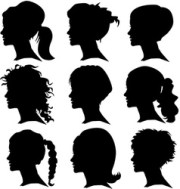 woman silhouette with hair royalty