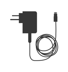 Thin line usb lightning charging cable Royalty Free Vector