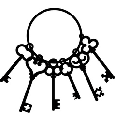 Heart and skeleton key Royalty Free Vector Image