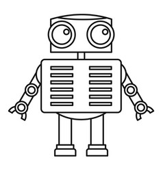 Android robot icon outline style Royalty Free Vector Image
