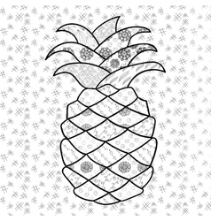 Tropical fruits group for coloring book Royalty Free Vector