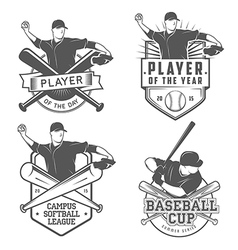 Softball Tournament Template Royalty Free Vector Image