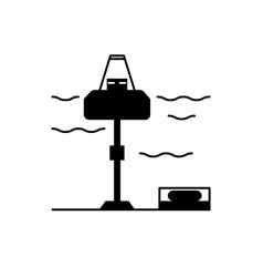 Tidal power plant icon image Royalty Free Vector Image