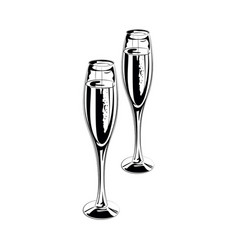 Drinking glass collection Royalty Free Vector Image