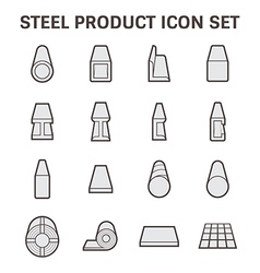 Steel structure pipe icon Royalty Free Vector Image