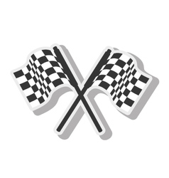 Background checkered flag Royalty Free Vector Image
