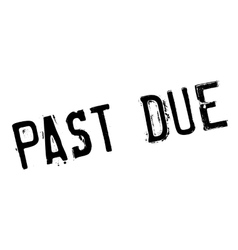 Past due rubber stamp Royalty Free Vector Image