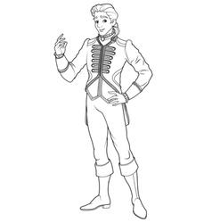 Running Cinderella Coloring Page Royalty Free Vector Image
