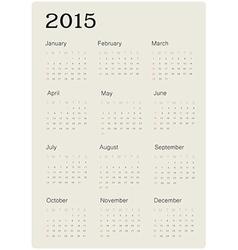 European 2014 2015 2016 year calendars Royalty Free Vector
