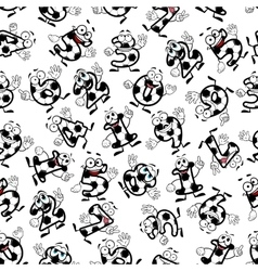 Soccer alphabet and numbers set Royalty Free Vector Image