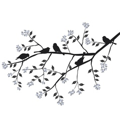 Branches with birdcages Royalty Free Vector Image