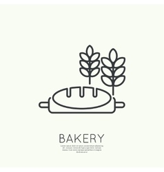 Loaf of bread and wheat ears Royalty Free Vector Image