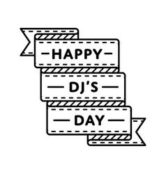 Happy Pi day greeting emblem Royalty Free Vector Image