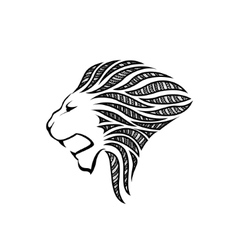 Lion head in profile Template Logo Royalty Free Vector Image