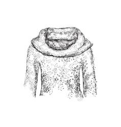 Cute sweater old background Royalty Free Vector Image