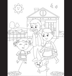 The three little pigs 1 Royalty Free Vector Image