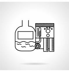 Isometric water treatment plant Royalty Free Vector Image