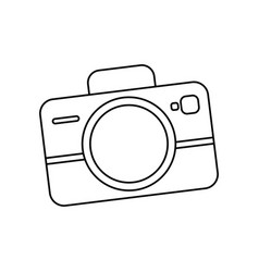 Camera lens icon outline style Royalty Free Vector Image