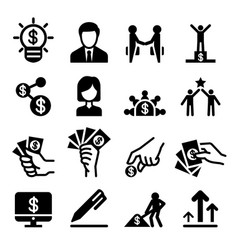 Business administration icon set Royalty Free Vector Image