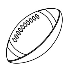 Rugby football ball line icon Royalty Free Vector Image