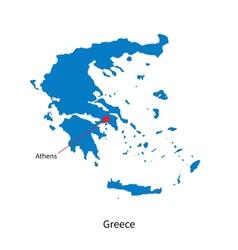 Island of Skopelos in Greece map Royalty Free Vector Image