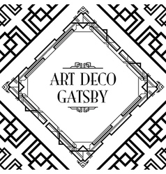 Art deco gatsby wedding Royalty Free Vector Image
