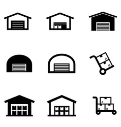 Isometric warehouse logistic icon set Royalty Free Vector