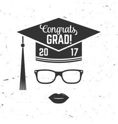 Graduation party invitation Royalty Free Vector Image