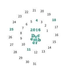 2014 calendar vintage calendar template for March Vector Image
