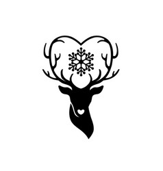 Download Head of deer with antlers love Royalty Free Vector Image