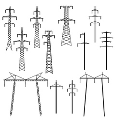 Silhouettes of construction crane tower Royalty Free Vector