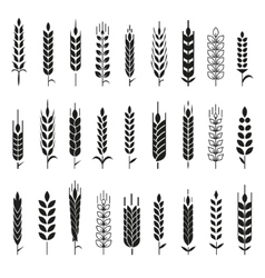 Agriculture and organic farm line logos Royalty Free