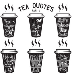 Coffee quotes and sayings typography set Royalty Free