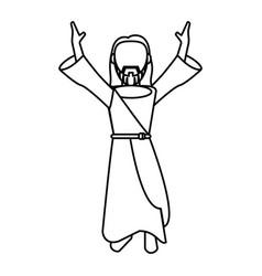 Jesus christ catholic faceless outline Royalty Free Vector