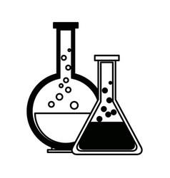Test tube chemistry school pictogram Royalty Free Vector