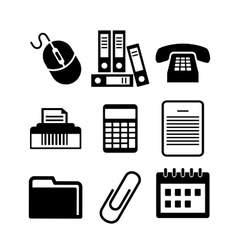 Communication icons black and white Royalty Free Vector