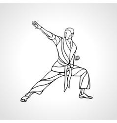 Taekwondo Karate and Wushoo Silhouettes Royalty Free Vector