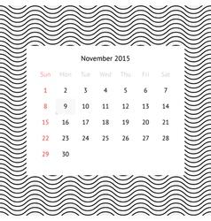 2015 Calendar Template Royalty Free Vector Image