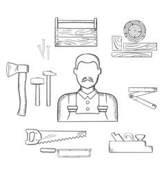 Hammer and nails icon Royalty Free Vector Image