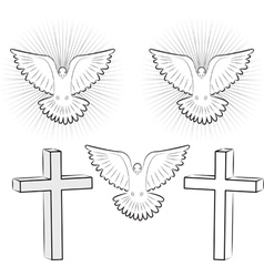 Symbols of Christianity Royalty Free Vector Image