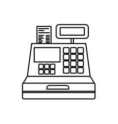 Sale cash register icon outline Royalty Free Vector Image