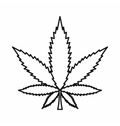 Cannabis plant icon outline style Royalty Free Vector Image