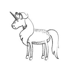 Cute watercolor unicorn Royalty Free Vector Image