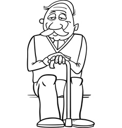 Professor or writer cartoon coloring page Vector Image
