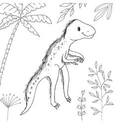 Lambeosaurus dinosaur coloring page Royalty Free Vector