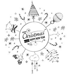 Christmas trees sketch set Royalty Free Vector Image