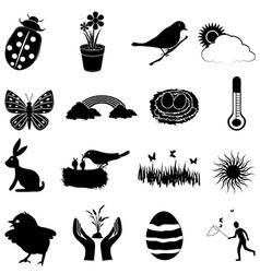 Farm animals icons set Royalty Free Vector Image