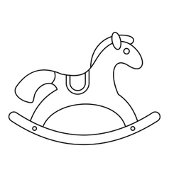 Rocking horse pattern simple style Royalty Free Vector Image