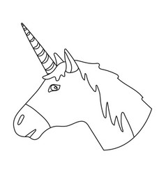 Cute graphic unicorn Royalty Free Vector Image