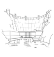 Hydroelectric plant icon Royalty Free Vector Image
